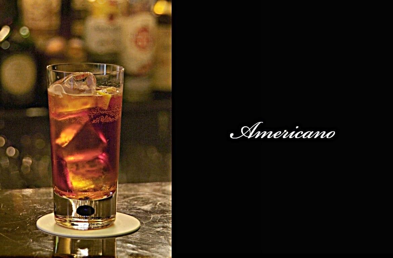 Americanoカクテル完成画像
