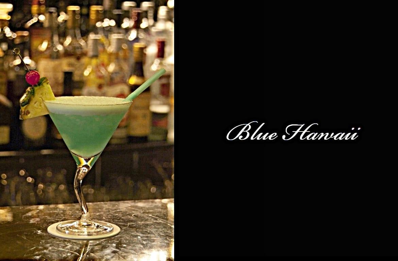 Blue Hawaiiカクテル完成画像