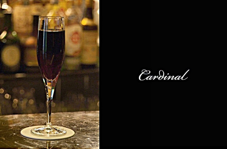 Cardinalカクテル完成画像