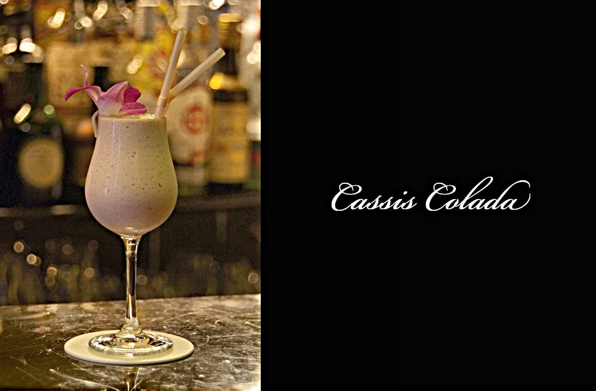 Cassis Coladaカクテル完成画像