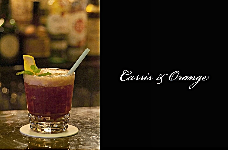 Cassis & Orangeカクテル完成画像