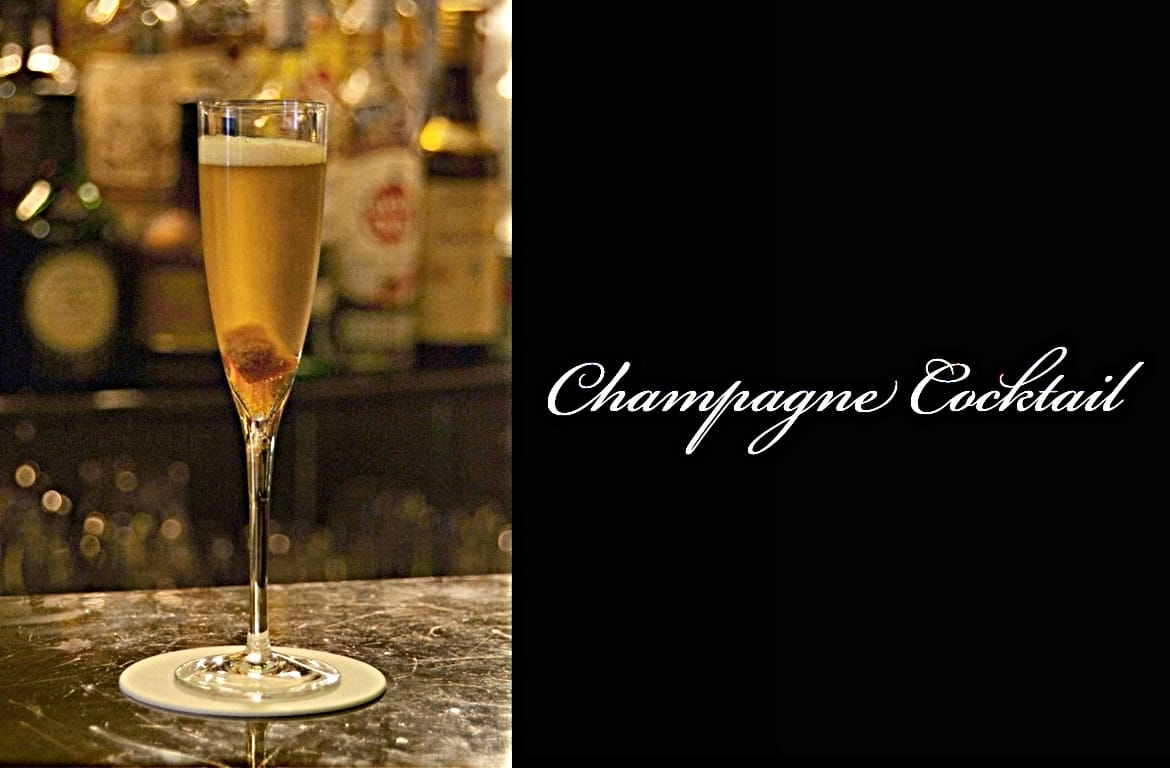 Champagne Cocktailカクテル完成画像
