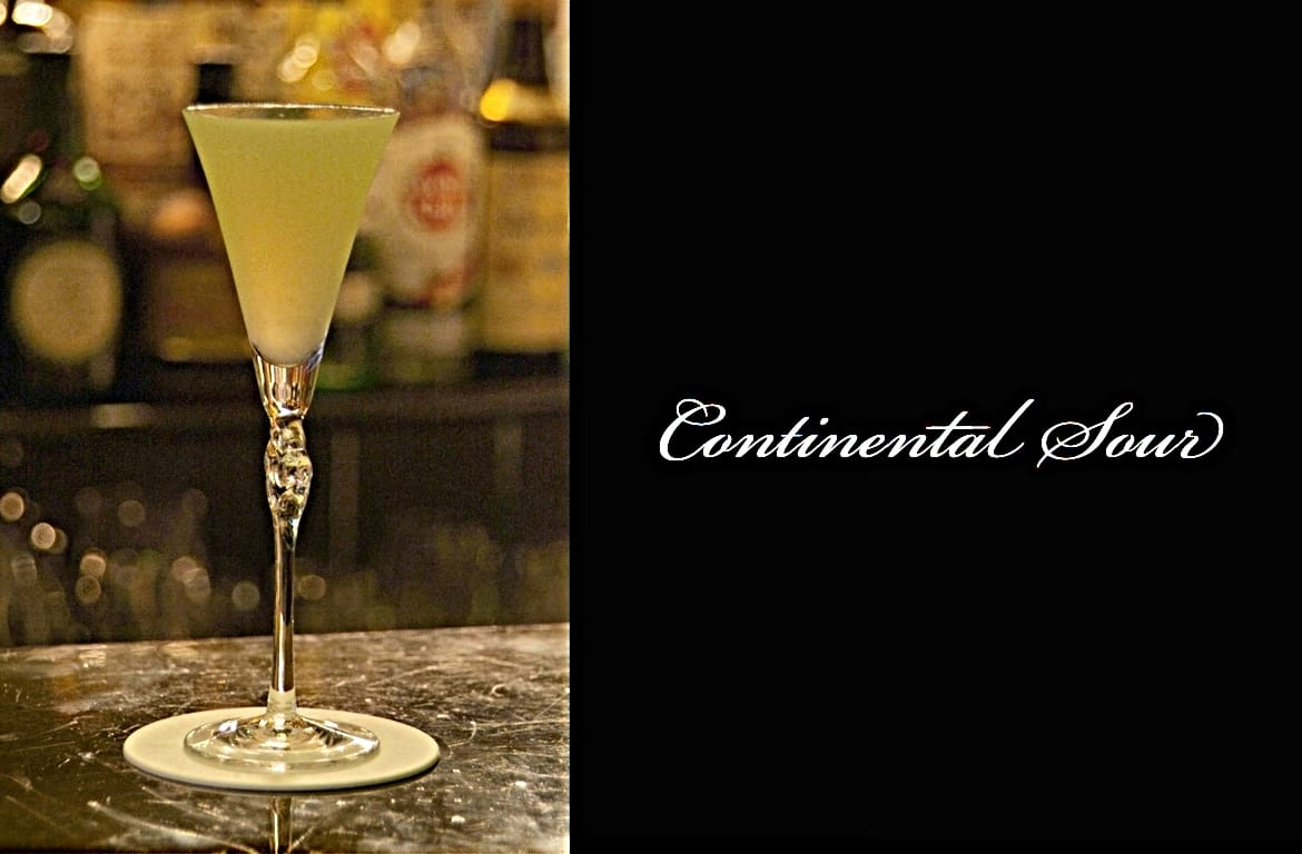 Continental Sourカクテル完成画像