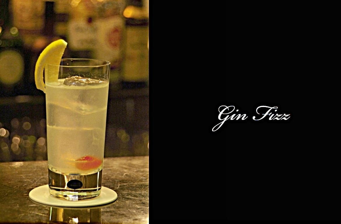 Gin Fizzカクテル完成画像