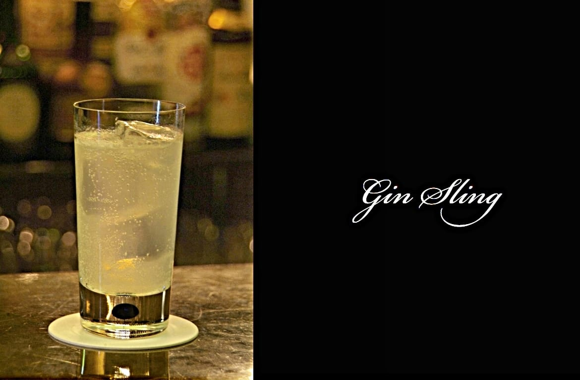 Gin Slingカクテル完成画像