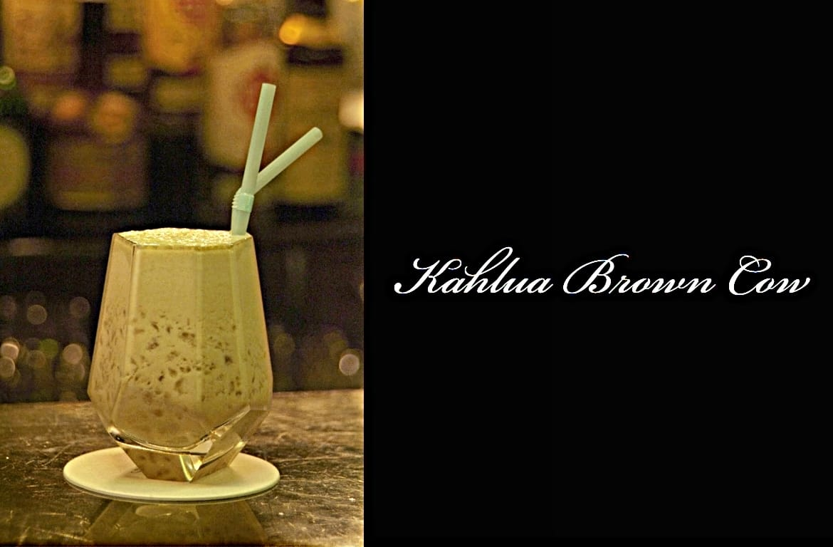 Kahlua Brown Cowカクテル完成画像