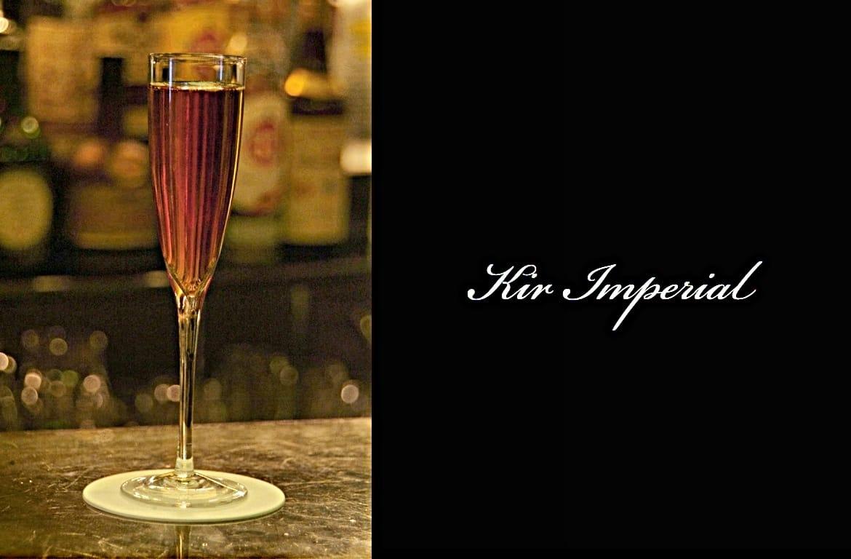Kir Imperialカクテル完成画像